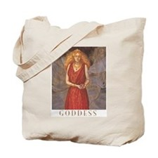 Persephone goddess tote bag