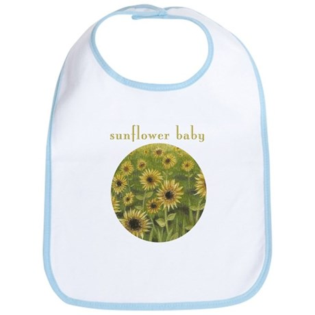 Sunflower Baby bib