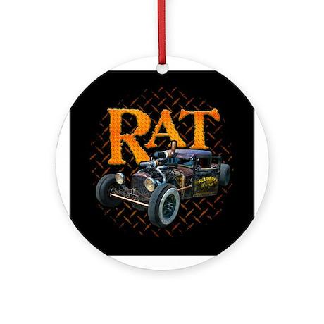 Diamond Plate RAT Ornament (Round)