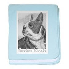 PODO Portraits -- Boston Terrier baby blanket