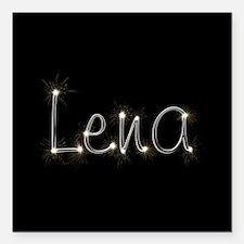 "Lena Spark Square Car Magnet 3"" x 3"""