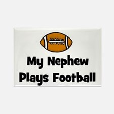 My Nephew Plays Football Rectangle Magnet