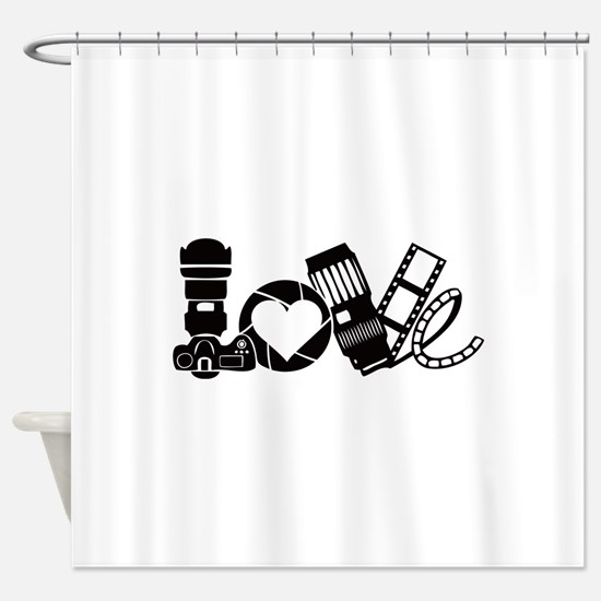 Camera Love Shower Curtain