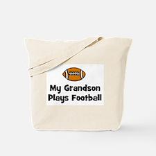 My Grandson Plays Football Tote Bag