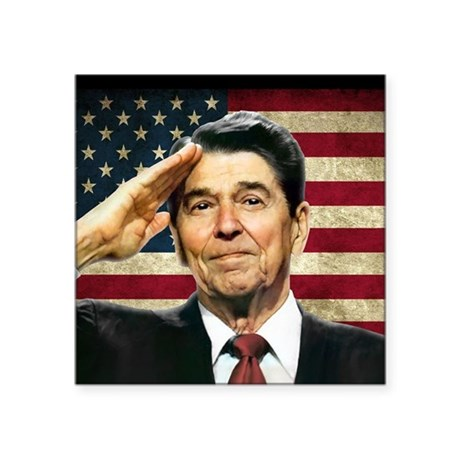 Reagan Salute... Sticker