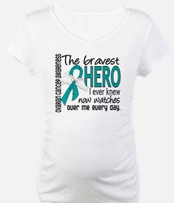 Bravest Hero I Knew Ovarian Cancer Shirt