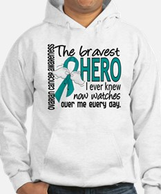 Bravest Hero I Knew Ovarian Cancer Hoodie