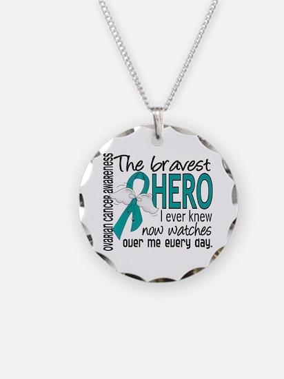 Bravest Hero I Knew Ovarian Cancer Necklace