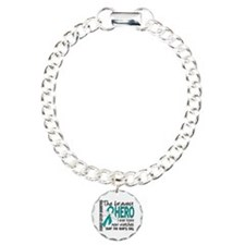 Bravest Hero I Knew Ovarian Cancer Charm Bracelet,