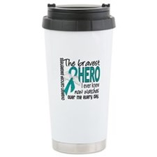 Bravest Hero I Knew Ovarian Cancer Travel Mug
