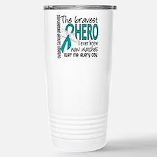 Bravest Hero I Knew Ovarian Cancer Travel Mug