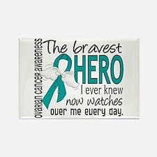 Bravest Hero I Knew Ovarian Cancer Rectangle Magne