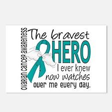 Bravest Hero I Knew Ovarian Cancer Postcards (Pack