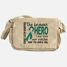 Bravest Hero I Knew Ovarian Cancer Messenger Bag