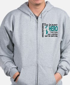 Bravest Hero I Knew Cervical Cancer Zip Hoodie