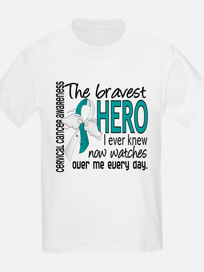 Bravest Hero I Knew Cervical Cancer T-Shirt