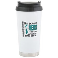 Bravest Hero I Knew Cervical Cancer Travel Mug