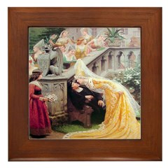 A Kiss From the Bride Framed Tile