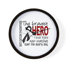 Bravest Hero I Knew Skin Cancer Wall Clock