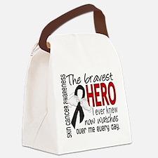 Bravest Hero I Knew Skin Cancer Canvas Lunch Bag