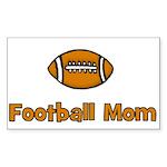 Football Mom Rectangle Sticker