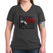 Bravest Hero I Knew Melanoma Shirt