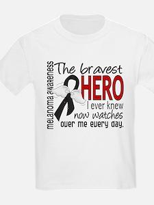 Bravest Hero I Knew Melanoma T-Shirt