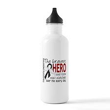 Bravest Hero I Knew Melanoma Water Bottle