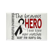 Bravest Hero I Knew Melanoma Rectangle Magnet