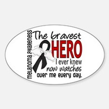 Bravest Hero I Knew Melanoma Decal