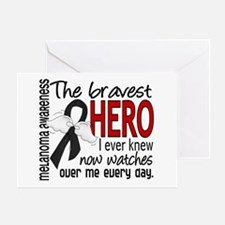 Bravest Hero I Knew Melanoma Greeting Card