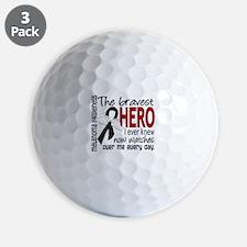 Bravest Hero I Knew Melanoma Golf Ball
