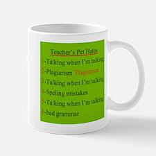 Pet Hates 2 GREEN Mug