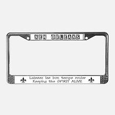 Laissez les bon temps rouler License Plate Frame