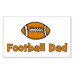 Football Dad Rectangle Sticker