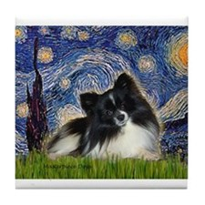 Cute Pomeranians Tile Coaster