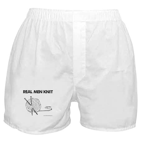 Real Men Knit Boxer Shorts