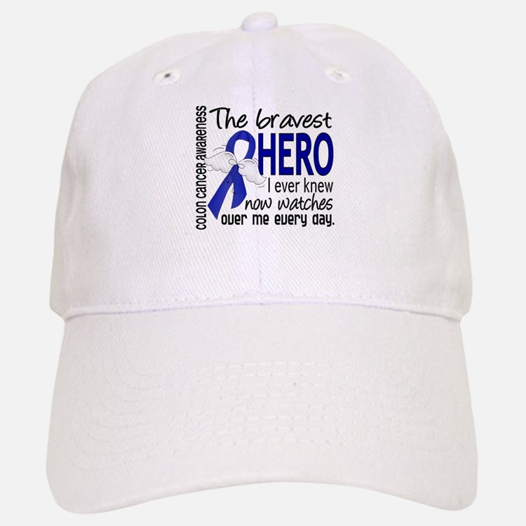 Bravest Hero I Knew Colon Cancer Baseball Baseball Cap