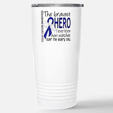 Bravest Hero I Knew Colon Cancer Travel Mug