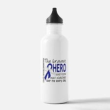 Bravest Hero I Knew Colon Cancer Water Bottle
