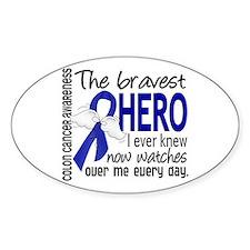 Bravest Hero I Knew Colon Cancer Decal