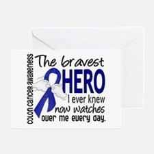 Bravest Hero I Knew Colon Cancer Greeting Card