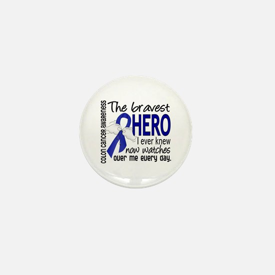 Bravest Hero I Knew Colon Cancer Mini Button (10 p
