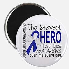 """Bravest Hero I Knew Colon Cancer 2.25"""" Magnet (10"""
