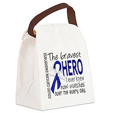 Bravest Hero I Knew Colon Cancer Canvas Lunch Bag