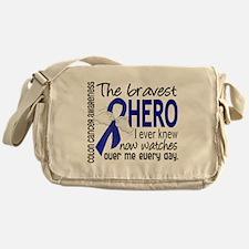 Bravest Hero I Knew Colon Cancer Messenger Bag