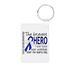 Bravest Hero I Knew Colon Cancer Keychains