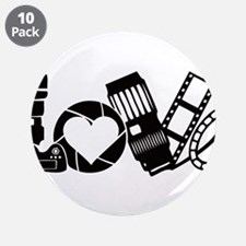 """Camera Love 3.5"""" Button (10 pack)"""