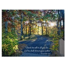 Seek His Will...Wall Art Framed Print