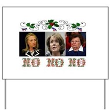 DEMOCRATS XMAS Yard Sign